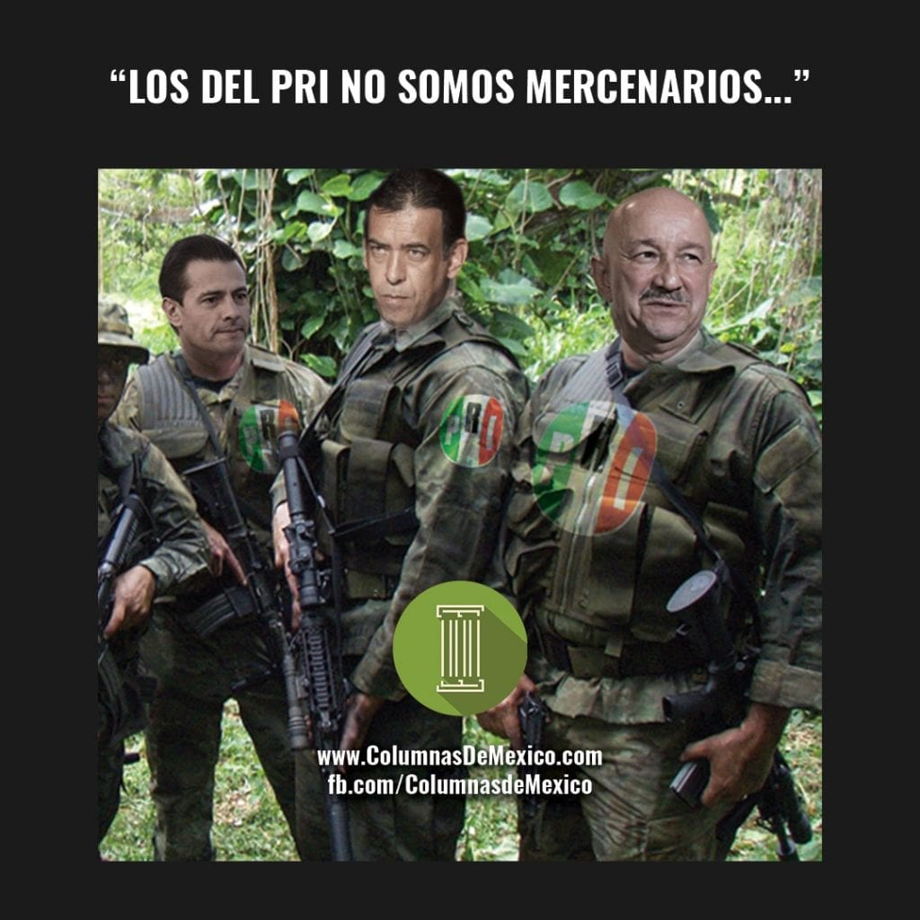 Meme_Columnas_De_Mexico_Mercenarios_Salinas_Gortari_Humberto_Moreira_Romero_Deschamps