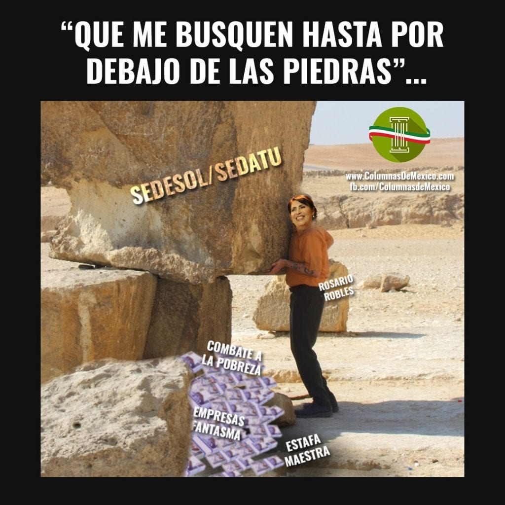Meme_Columnas_de_Mexico_Pena_nieto_Rosario_Robles