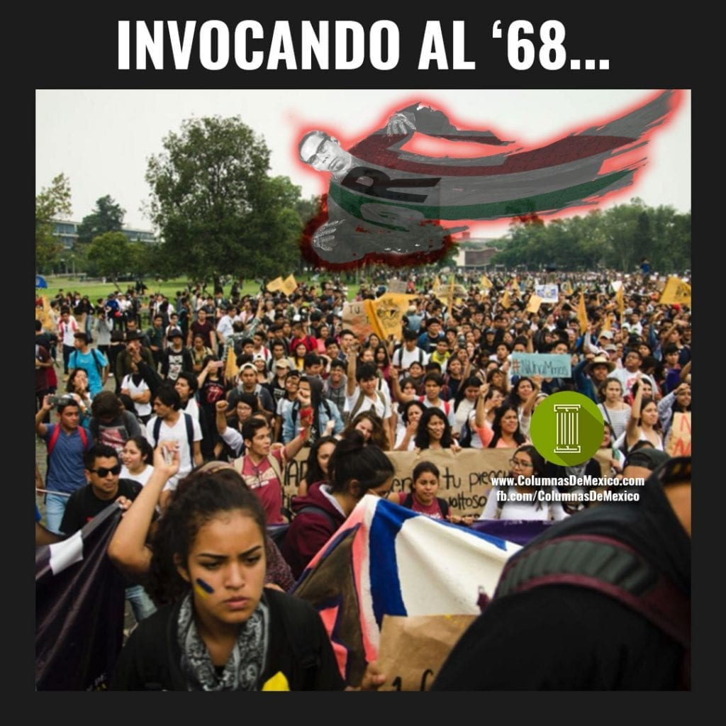 Meme_Diaz_Ordaz_68_UNAM_Marchas